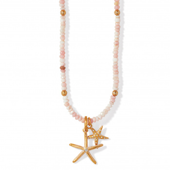 PARADISE COVE Paradise Cove Pink Opal Shell Necklace