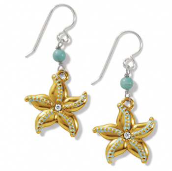 Paradise Cove Starfish French Wire Earrings