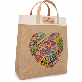 Artful At Heart Let Love Shine Tote