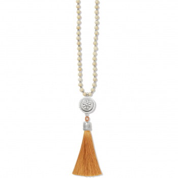 Marrakesh Neutral Tassel Necklace