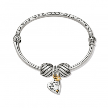 Forever In My Heart Charm Bangle