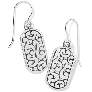 Contempo Token Tag French Wire Earrings