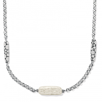 Pebble Pearl Double Link Necklace