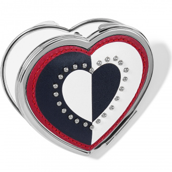 Fashionista Look Of Love Heart Compact Mirror