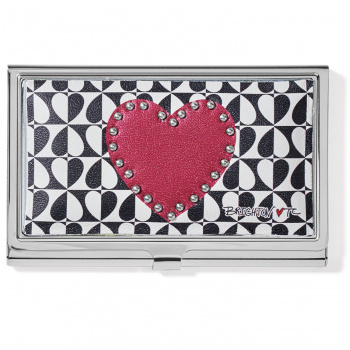 Fashionista Look Of Love Metal Card Case