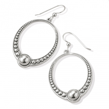 Pretty Tough Oval French Wire Earrings