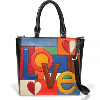 Fashionista Love Patch Handheld Tote