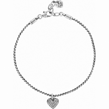 Diamond Diamond Heart Anklet