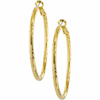 Large Hoop Charm Earrings