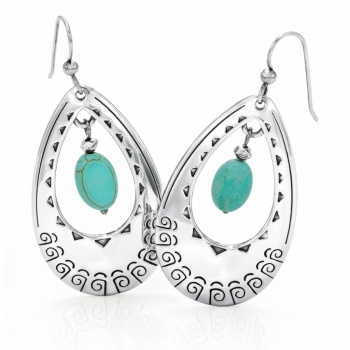 Santa Fe Santa Fe Turquoise French Wire Earrings
