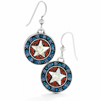 Americana Star French Wire Earrings