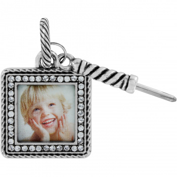 Picture Holder Memento Square Photo Charm