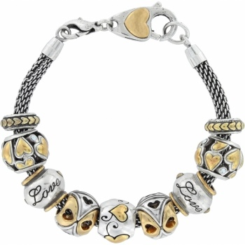 All About Love Two Tone Bracelet