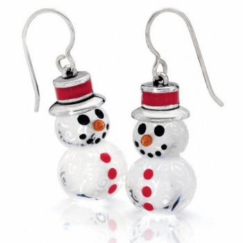 Snowman French Wire Earrings