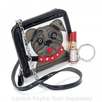 Fashionista Posh Pug Small Wallet