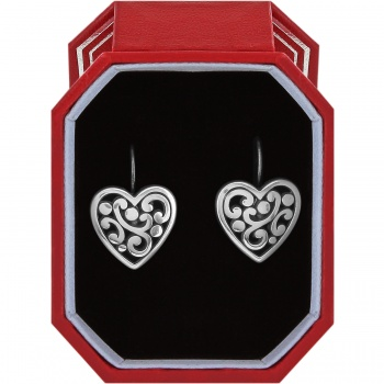 Contempo Heart Leverback Earrings Gift Box