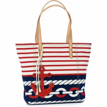 Anchors Away Harbor Striped Tote