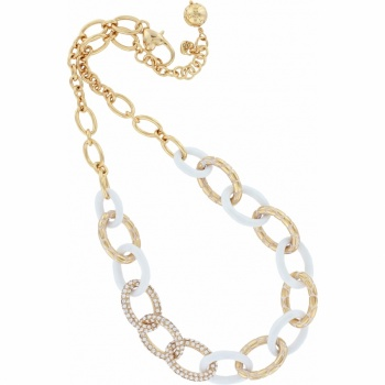 Pebble Pebble Pave Link Necklace