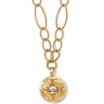 medalionneck img crystal gold beautiful medallion popesco catherine or by silver necklace